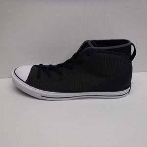Converse Size 12 Black & White Mid Tops Sneakers